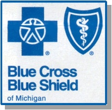 Patients covered by blue cross blue shield insurance
